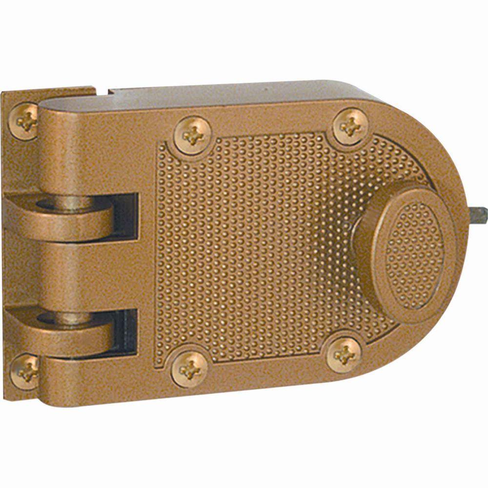Single Cylinder Painted Brass Jimmy-Resistant Entry Door Deadlock  sc 1 st  The Home Depot & Lock u0026 Door Reinforcer - Door Security - Door Hardware - The Home Depot