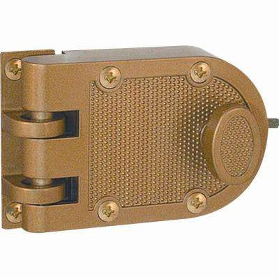 Single Cylinder Painted Brass Jimmy-Resistant Entry Door Deadlock