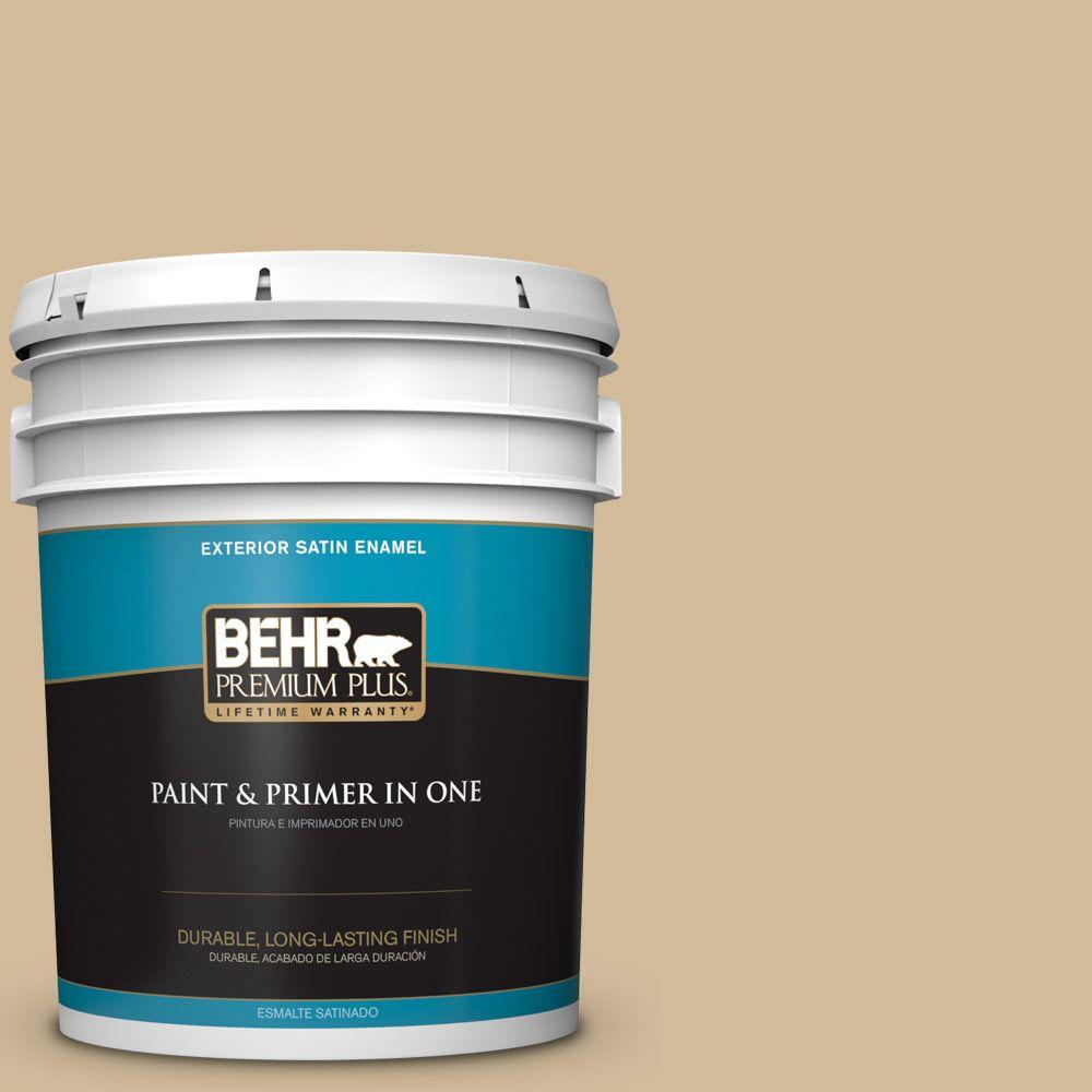 BEHR Premium Plus 5-gal. #N290-4 Curious Collection Satin Enamel Exterior Paint
