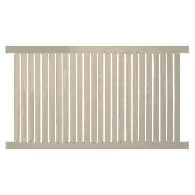 Hanover 4 ft. H x 6 ft. W Khaki Vinyl Pool Fence Panel