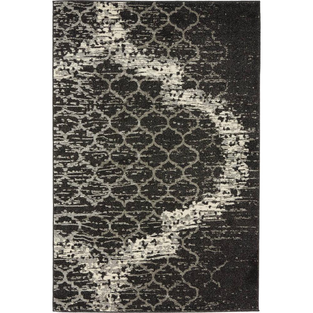 Trellis Baltimore Charcoal Gray 4' 0 x 6' 0 Area Rug