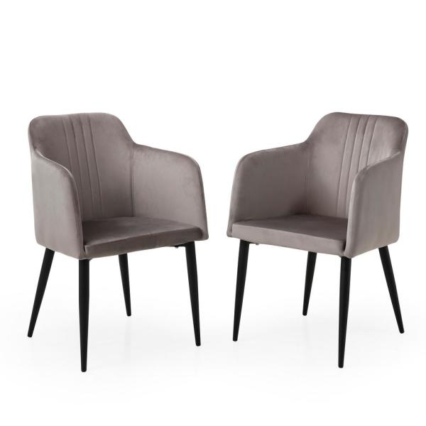 Set Of 2 Living Room Accent Chairs.Ac Pacific Jason Grey Modern Living Room Accent And Dining Arm Chair