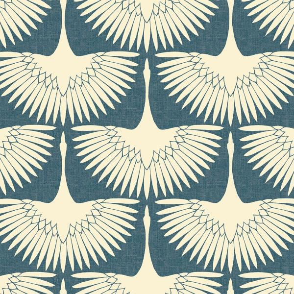 Feather Flock Denim Blue Vinyl Peelable Roll (Covers 56 sq. ft.)