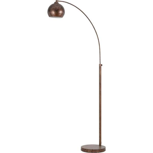 CAL Lighting Arc 72 in. Rust Floor Lamp with Metal Shade-BO-2030-1L-RU -  The Home Depot