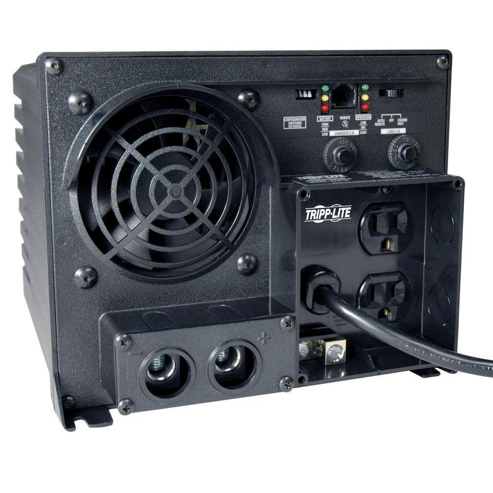 20-Amp 750 Watt Inverter / Charger 12-Volt DC to 120-Volt AC 5-15R 2 Outlet