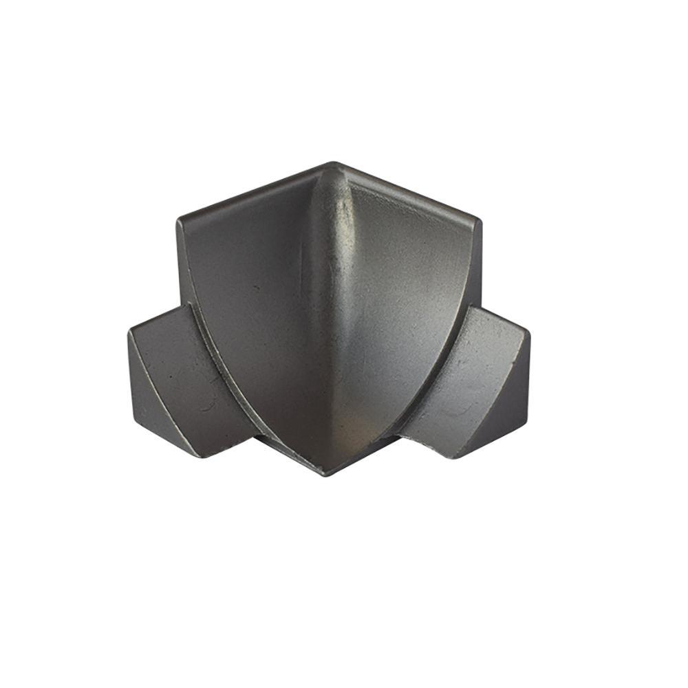 Internal Angle NS4 Matt Silver 1-1/2 in. x 1-1/2 in. Complement Aluminum Tile Edging Trim