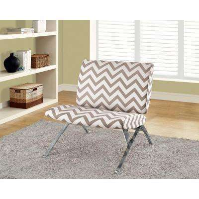 Dark Taupe Fabric Side Chair