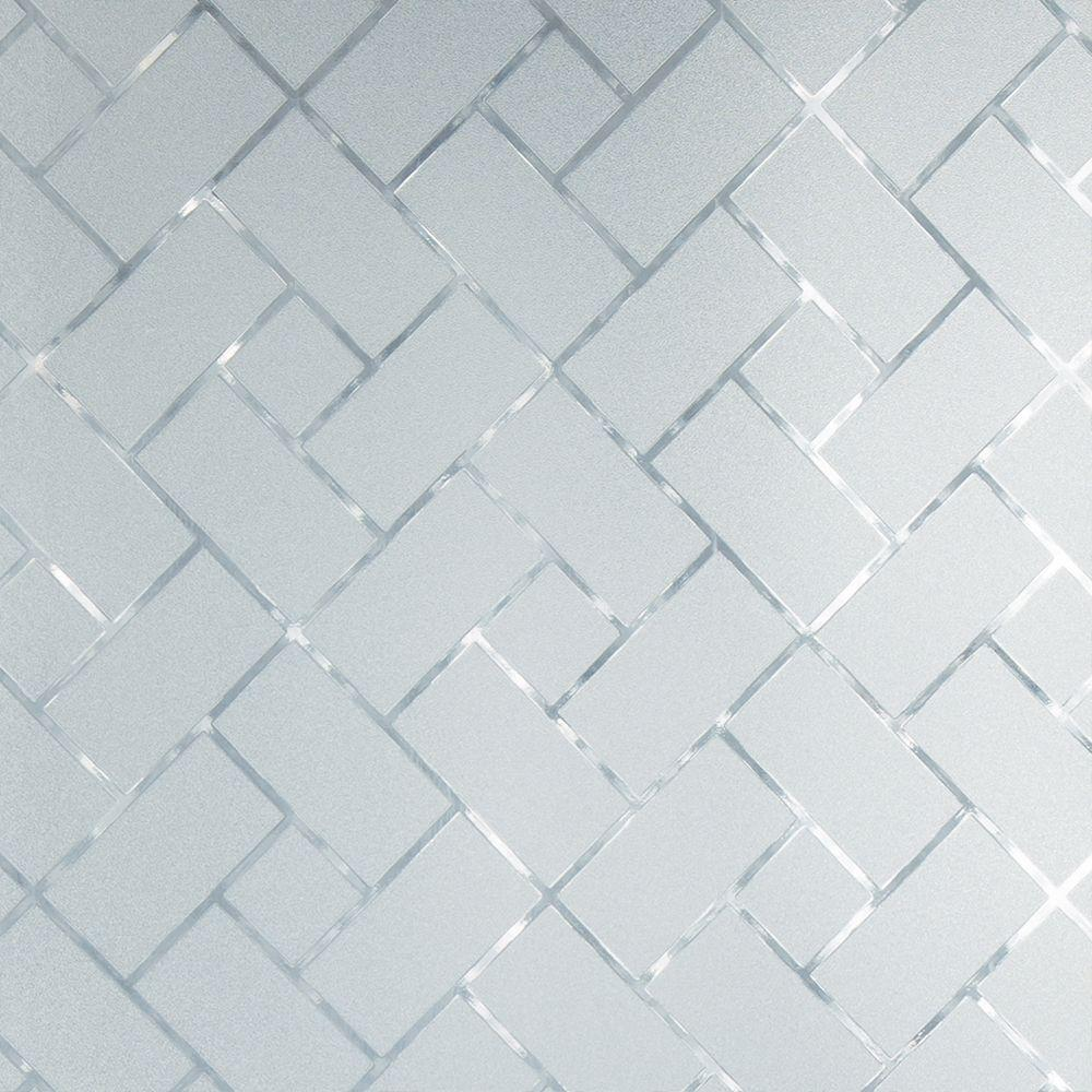 Gila 36 in. W x 78 in. H Privacy Control Frosted Tile Win...
