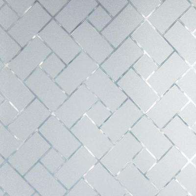 36 in. W x 78 in. H Privacy Control Frosted Tile Window Film