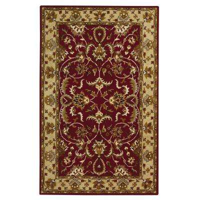 Constantine Burgundy 4 ft. x 6 ft. Area Rug