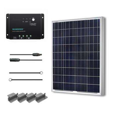 100-Watt 12-Volt Polycrystalline Solar Starter Kit for Off-Grid Solar System