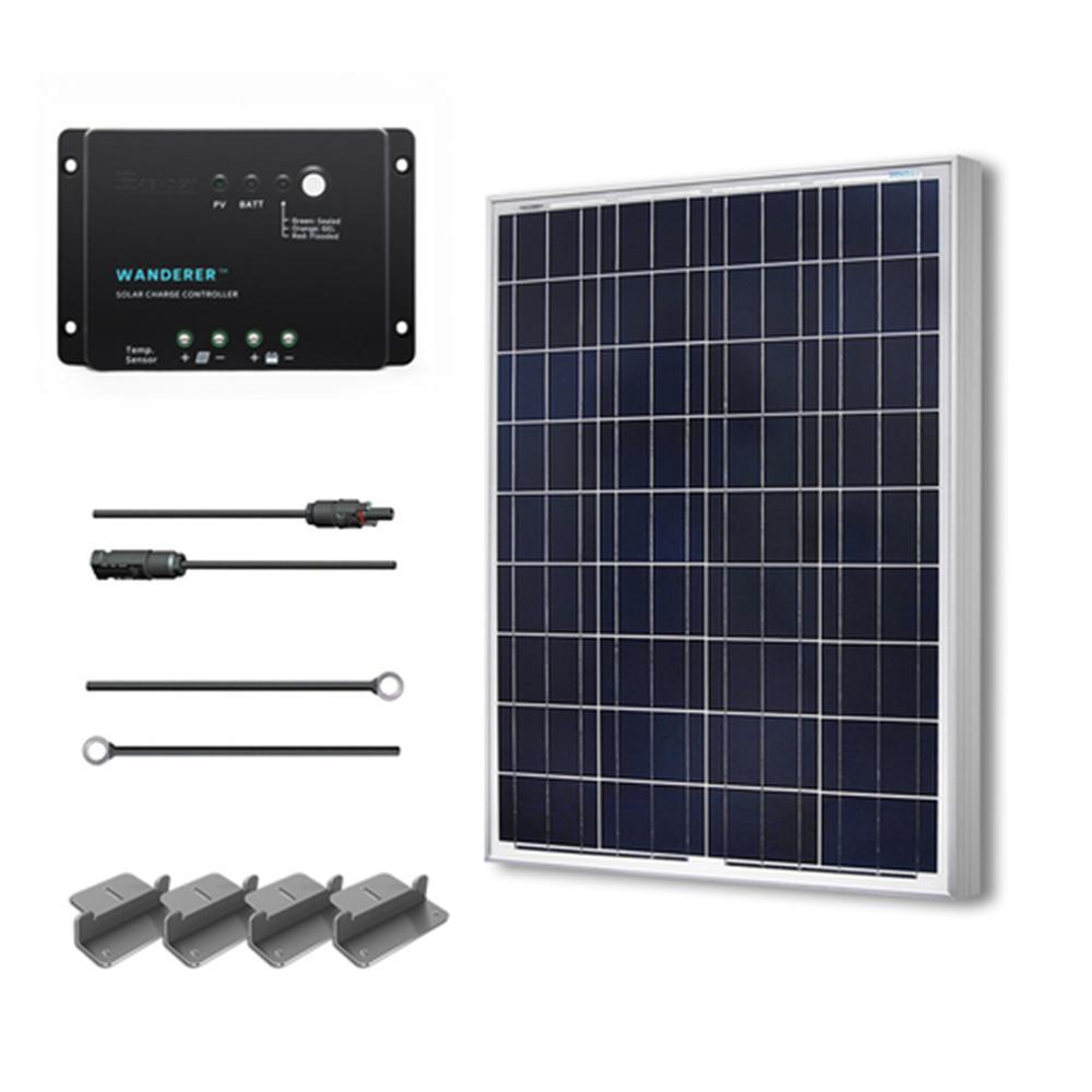 Renogy 100 Watt 12 Volt Polycrystalline Solar Starter Kit