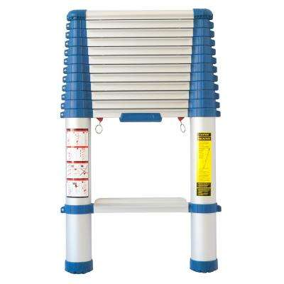 12.5 ft. Aluminum Telescopic Ladder with 300 lb. Load Capacity Type 1A Duty Rating