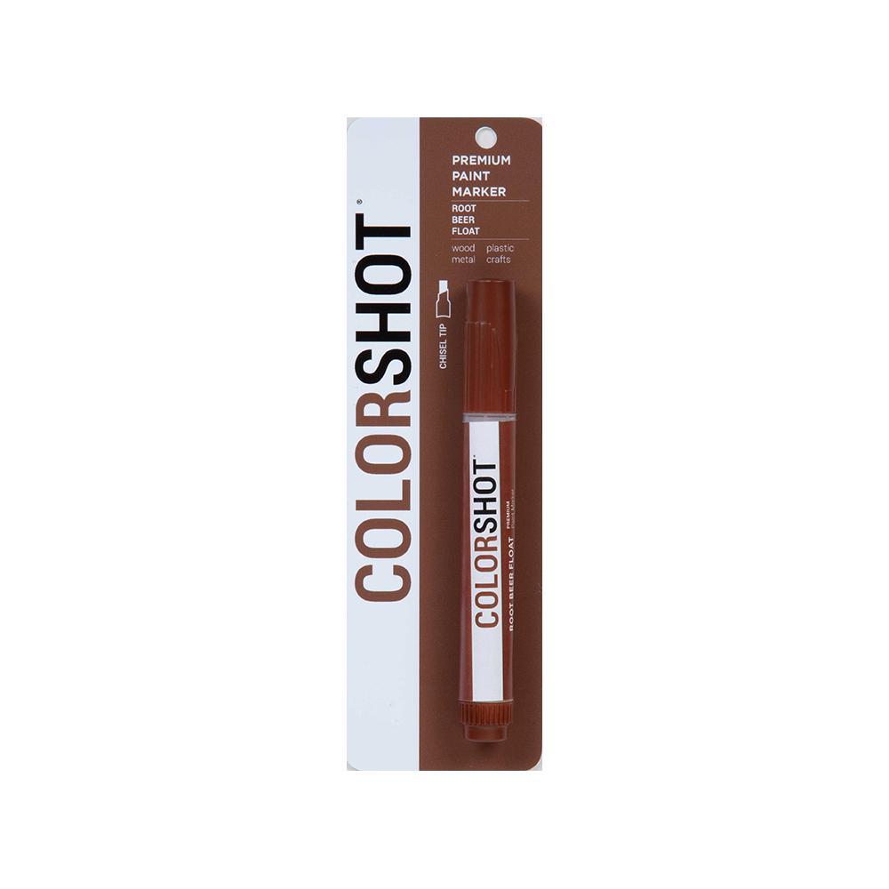 COLORSHOT Root Beer Float Medium Brown Acrylic Craft Paint Pen