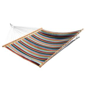 Vivere 13 ft. Sunbrella Quilted Reversible Double Hammock in Carousel Confetti by Vivere