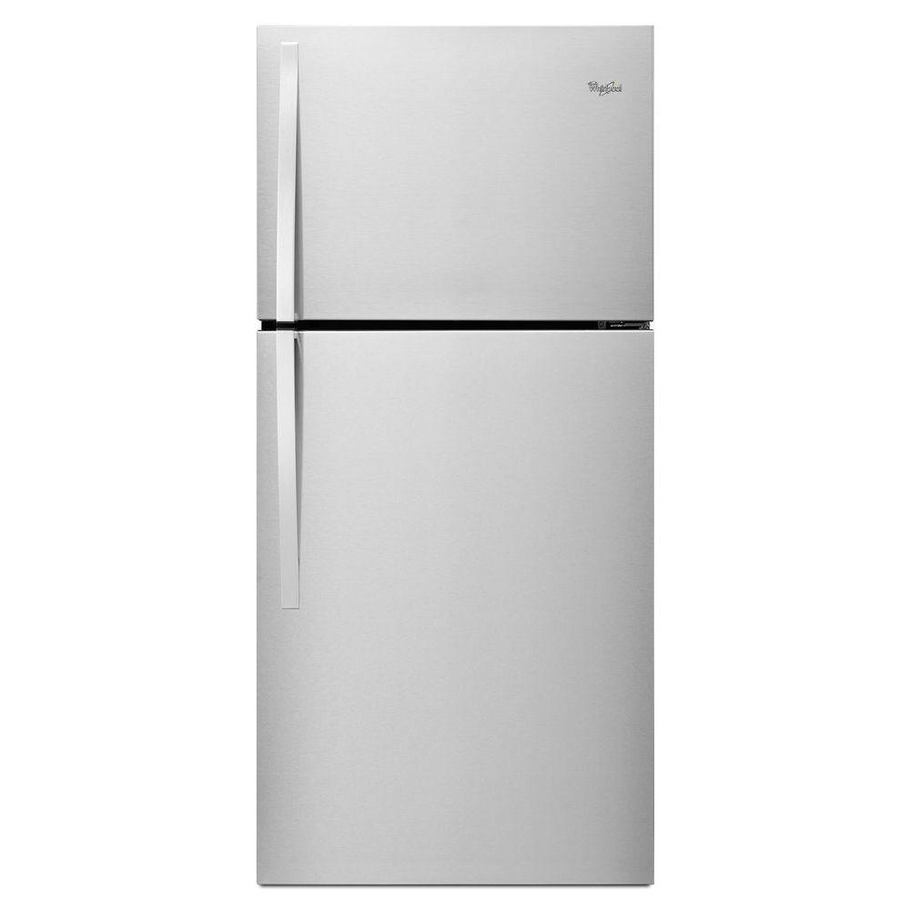 Whirlpool 19.2 cu. ft. Top Freezer Refrigerator in Monochromatic Stainless Steel