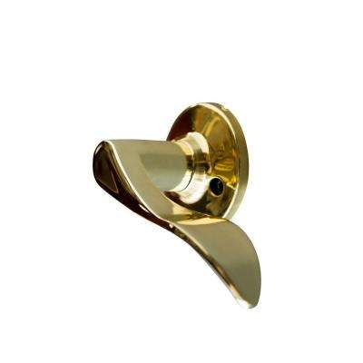Stratford Polished Brass Right-Hand Dummy Door Lever