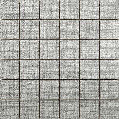 Canvas Tweed 11.81 in. x 11.81 in. x 9mm Porcelain Mesh-Mounted Mosaic Tile (0.97 sq. ft.)