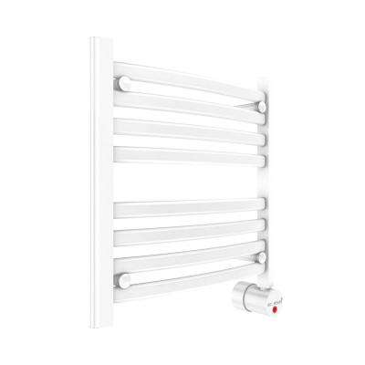 8-Bar Wall Mounted Electric Towel Warmer with Digital Timer in White