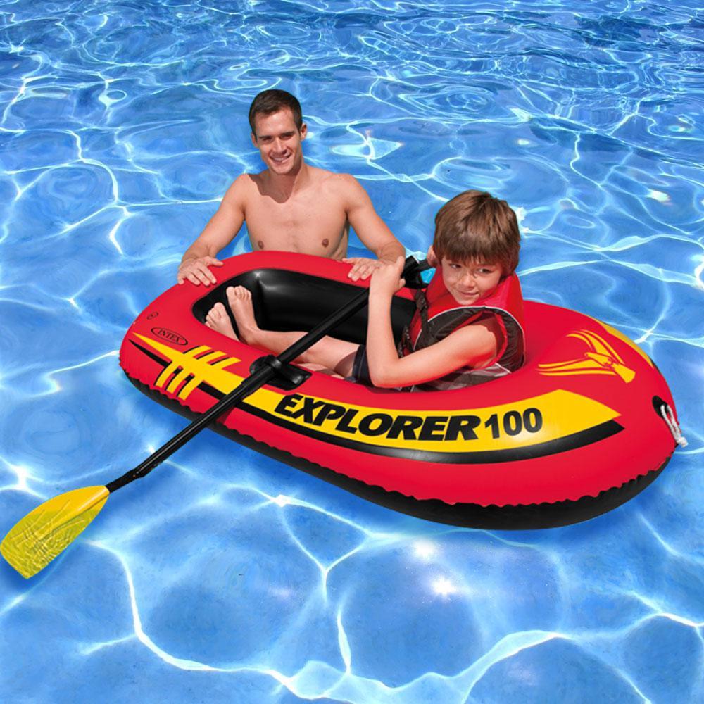 Intex Recreation Explorer 100 Boat with Oars Pool Float, Multi