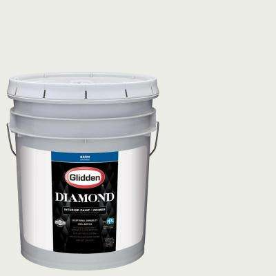 5 gal. #HDGG48U Granny Smith White Satin Interior Paint with Primer