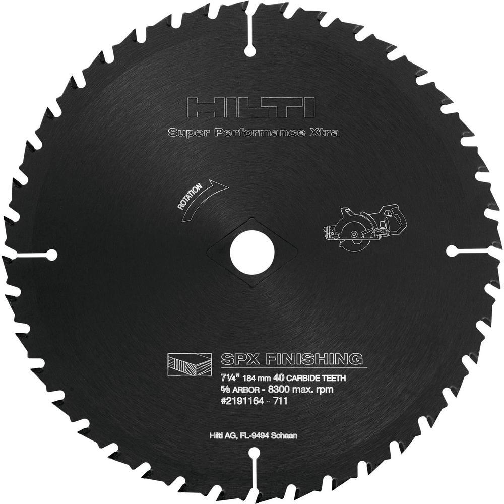 7-1/4 in. 40 Teeth Circular Saw SPX Finishing Blade (5)