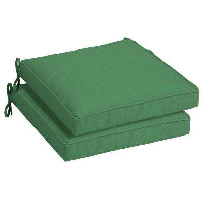 Moss Leala Texture Square Outdoor Seat Cushion (2-Pack)