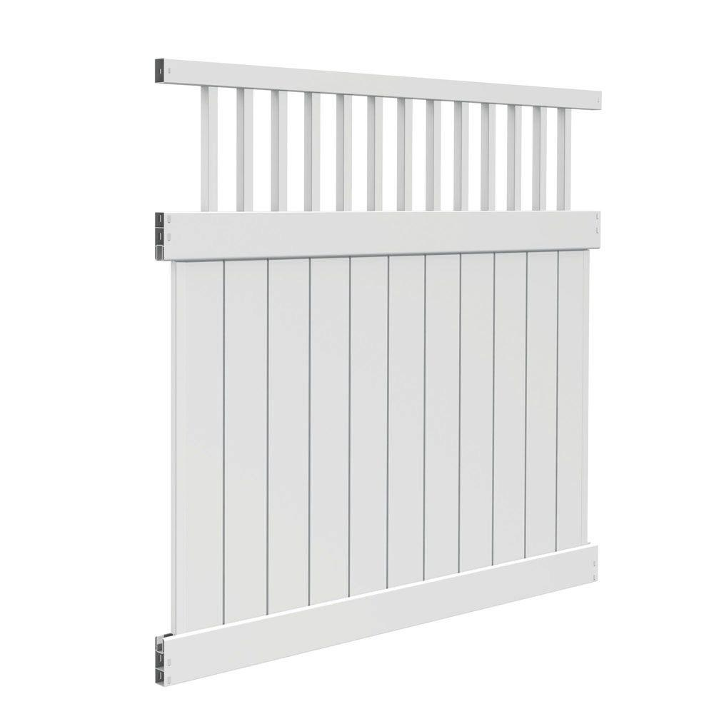 Veranda missouri ft h w white vinyl fence kit