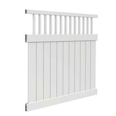 Missouri 6 ft. H x 6 ft. W White Vinyl Fence Kit