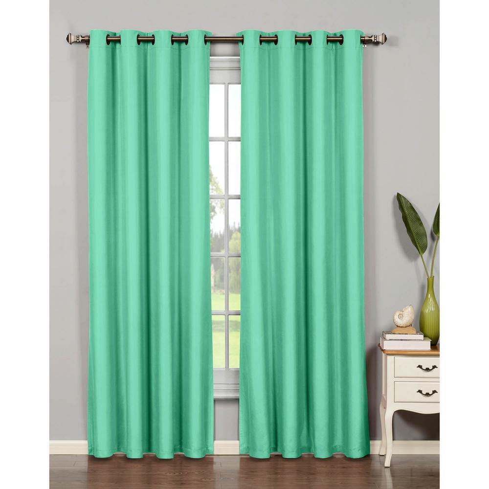 Semi Opaque Emma Microfiber Extra Wide 84 In L Room Darkening Grommet Curtain Panel