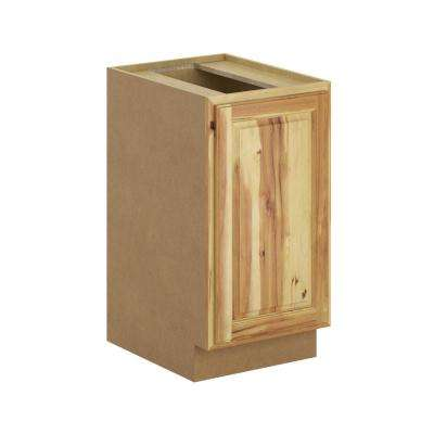 Madison Assembled 18x34.5x24 in. Pull Out Trash Can Base Kitchen Cabinet in Hickory