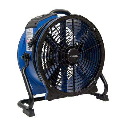 3600 CFM High Temperature 18 in. Variable Speed Sealed Motor Professional Axial Fan