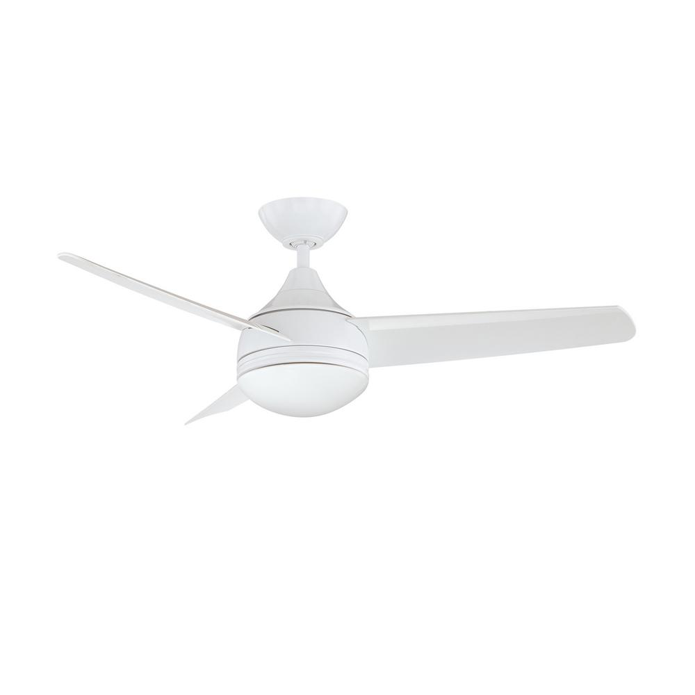 Designers Choice Collection Moderno 42 in. White Ceiling Fan