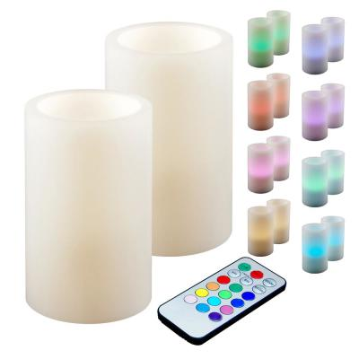 3 in. Multicolor Remote Control Candle (Set of 2)