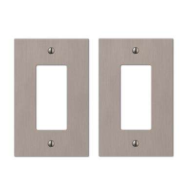 Barnard 1 Decora Wall Plate in Brushed Nickel Cast (2-Pack)