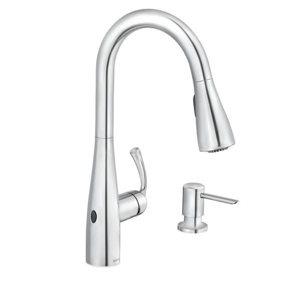 MOEN - Essie Touchless Single-Handle Pull-Down Sprayer Kitchen Faucet with MotionSense Wave and Power Clean in Chrome