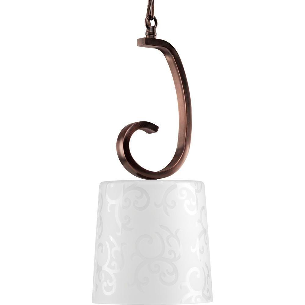 Progress Lighting Nicollette Collection Copper Bronze 1-light Mini-Pendant-DISCONTINUED