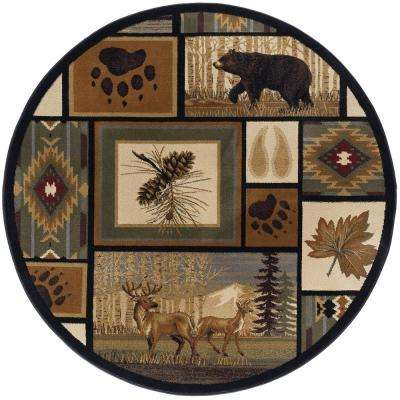 Nature Multi-Color 7 ft. 10 in. Round Area Rug