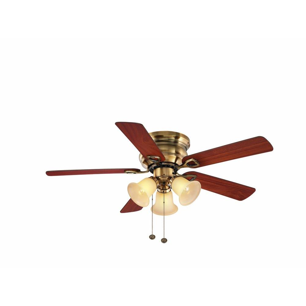 Hampton Bay Clarkston 44 in. Antique Brass Ceiling Fan