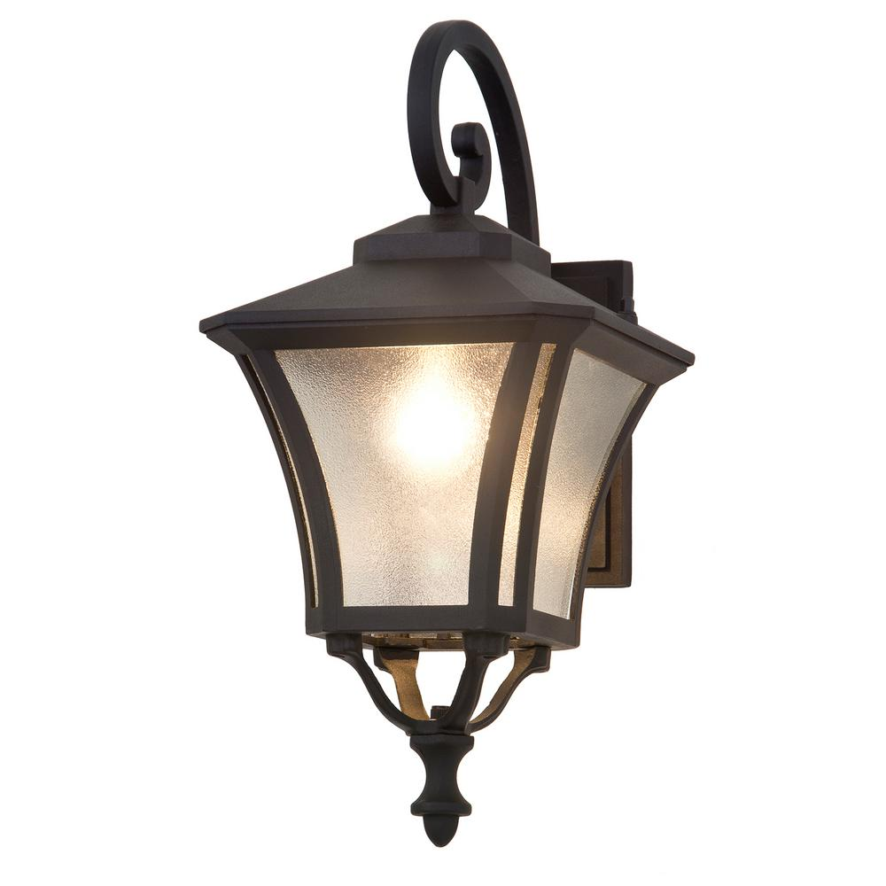 Abigail 1-Light Black Outdoor Wall Mount Sconce