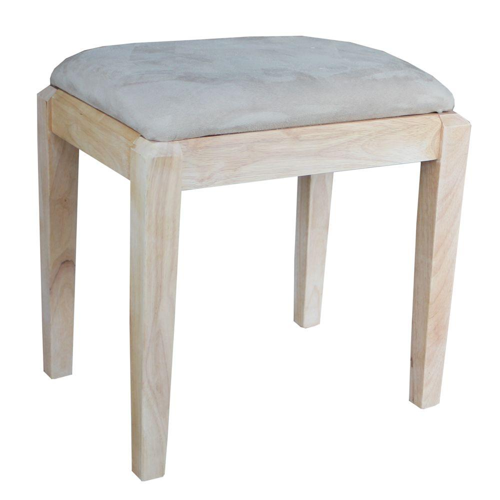 International Concepts Taupe Vanity Bench