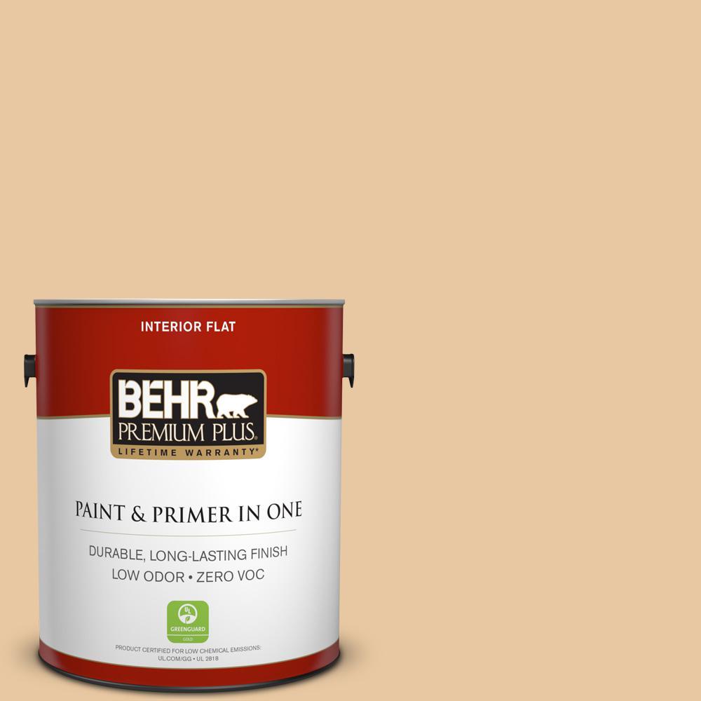 1 gal. #PPU4-15 Jasper Cane Zero VOC Flat Interior Paint