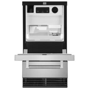 kitchenaid 18 in 35 lbs freestanding ice maker in stainless steel rh homedepot com