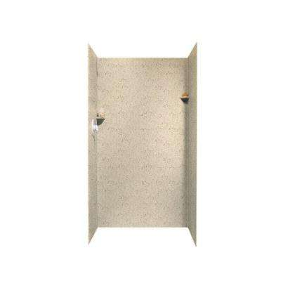 36 in. x 36 in. x 72 in. 3-Piece Easy Up Adhesive Alcove Shower Surround in Tahiti Desert