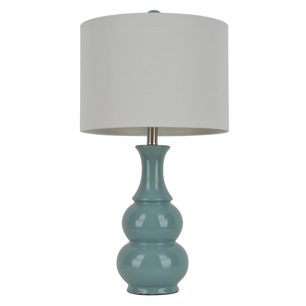 Decor Therapy Crackle Ceramic 26 5 In Light Green Table Lamp With