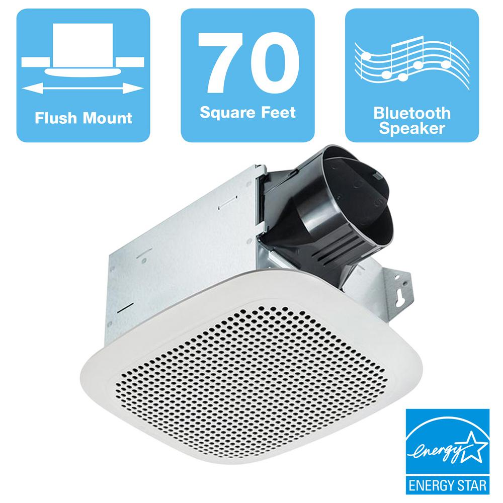 Delta Breez Integrity Series 70 CFM Ceiling Bathroom Exhaust Fan with Bluetooth Speaker, ENERGY STAR