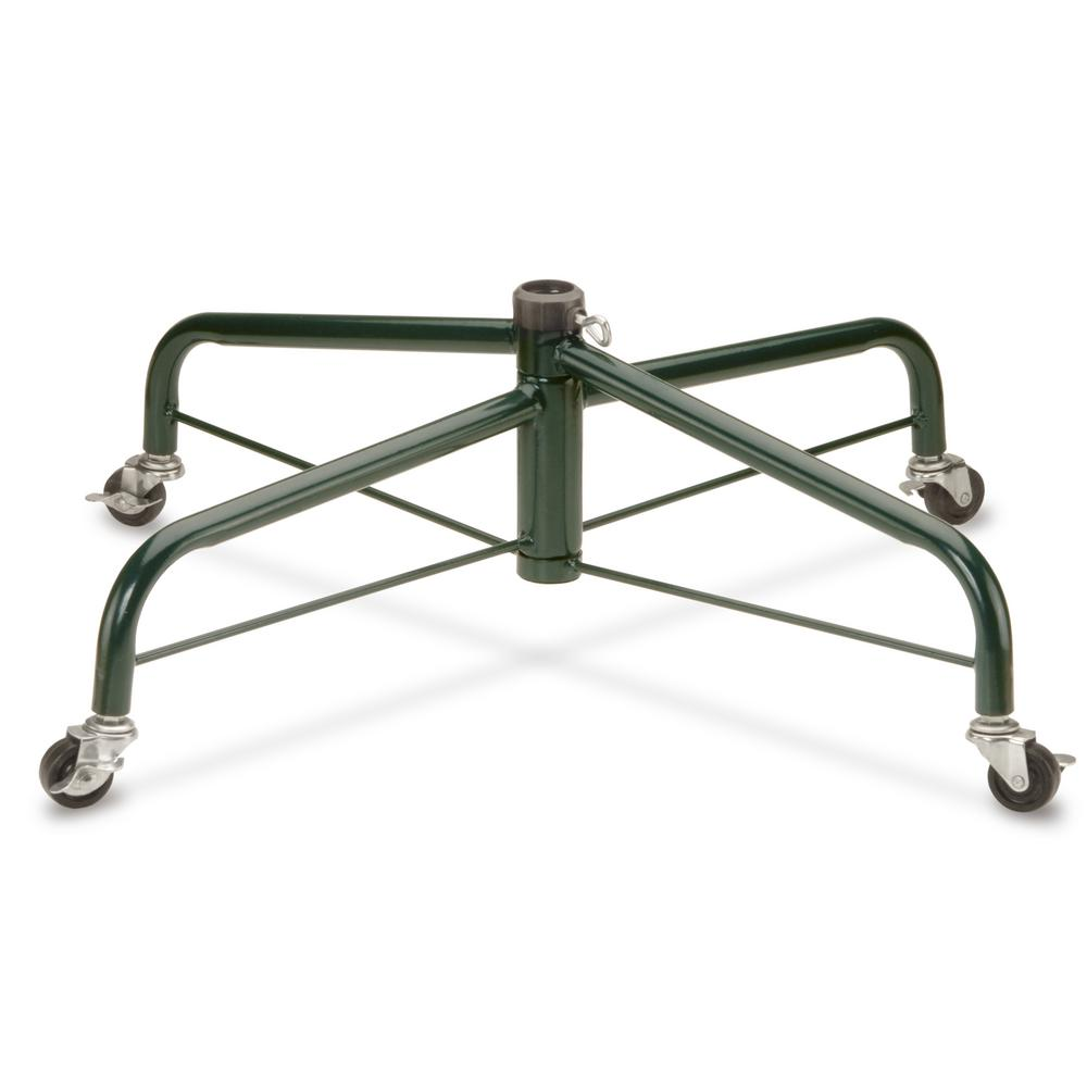 Artificial Christmas Tree Stand.28 In Folding Tree Stand With Rolling Wheels For 7 1 2 Ft To 8 Ft Trees