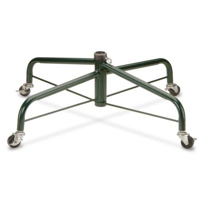 32 in. Folding Tree Stand with Rolling Wheels for 9 ft. to 10 ft. Trees Fits 1.25 in. Pole