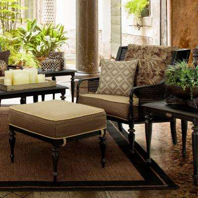 Sherborne 2-Piece Patio Chair and Ottoman Set with Palmetto Cushions