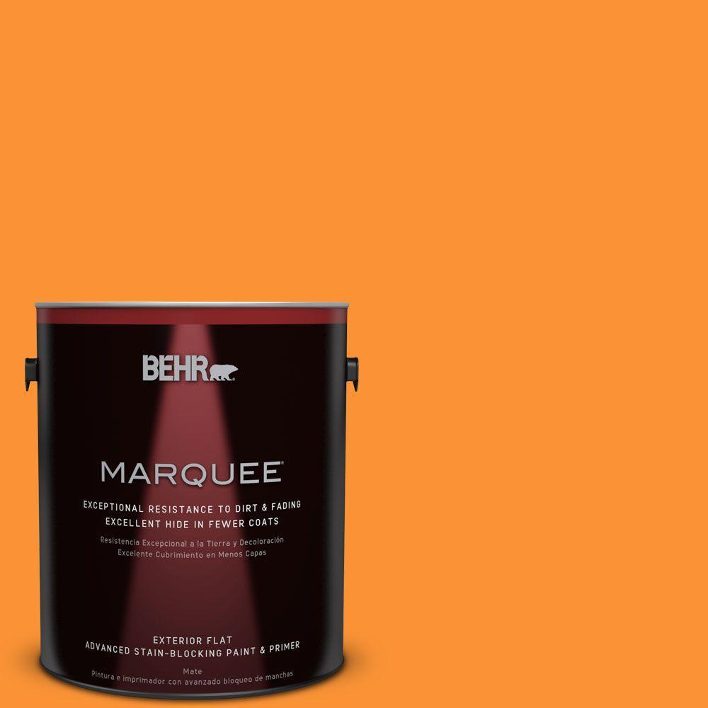 1-gal. #P240-7 Joyful Orange Flat Exterior Paint